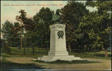 Schiller monument and Linden tree, Riverview Park, Omaha, Neb.