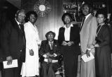 Charles B. Washington with Brenda Council and others