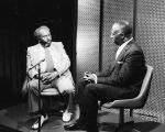 "Charles B. Washington on television set of ""Omaha, Can We Do?"