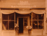 C. S.  West - undertaker, furniture and post office storefront in Papillion, Nebraska